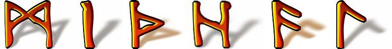 Michał runiczny talizman imienny